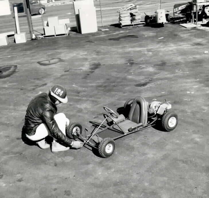 duffy and a go kart 400